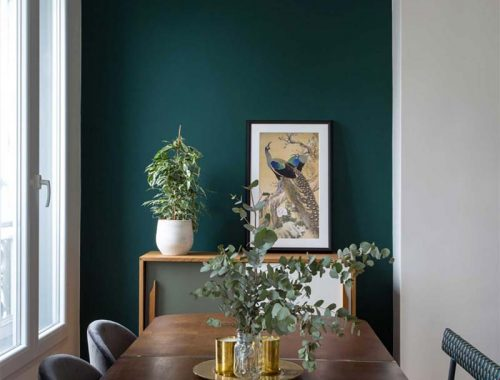 smaragdgroen in interieur