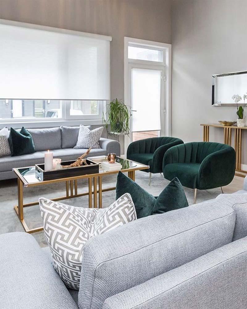 smaragdgroene fauteuils woonkamer