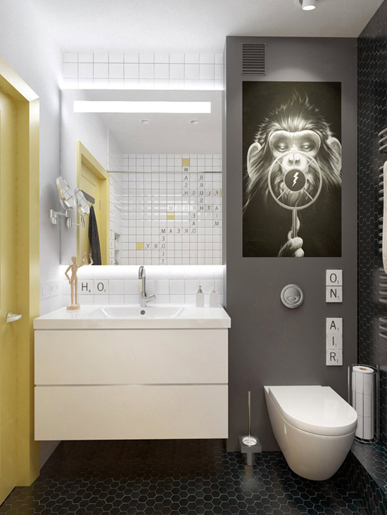 Speelse badkamer