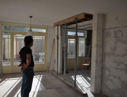 Steunmuur verwijderen tussen woonkamer en keuken
