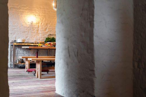 Stoere moderne keuken in de souterrain