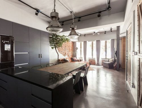 Stoere open keuken