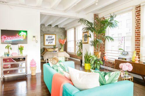 Stoere romantische slaapkamer