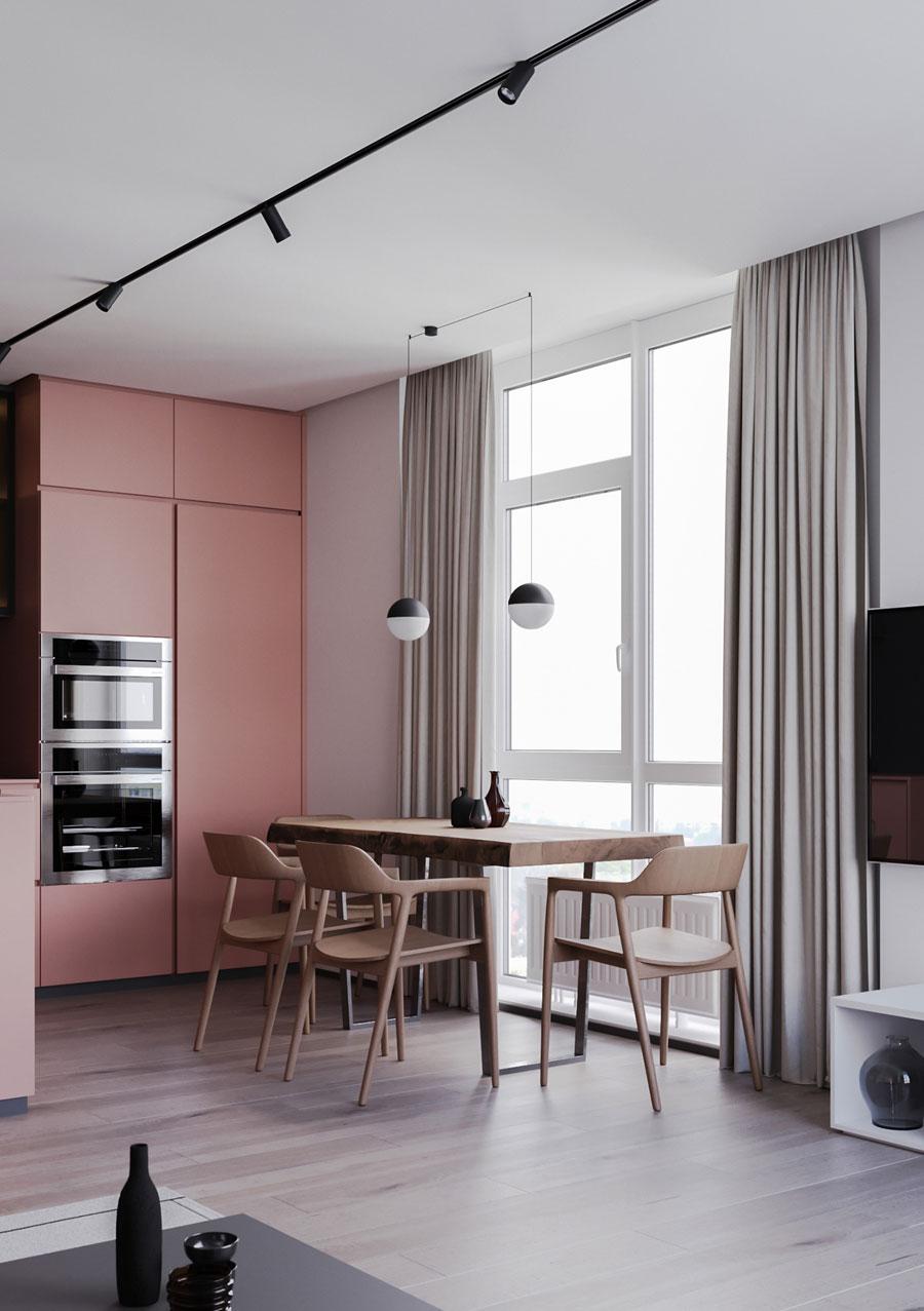 Stoere roze keuken!
