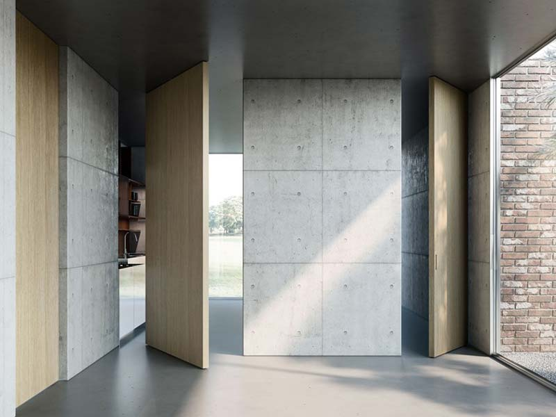 taatsdeur hout en beton