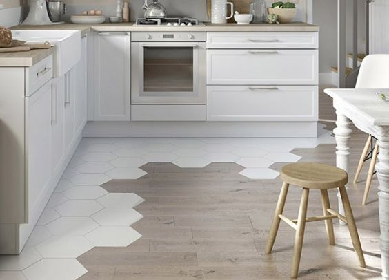 Houten Vloer Tegels : Tegels en houten vloer combineren huis inrichten