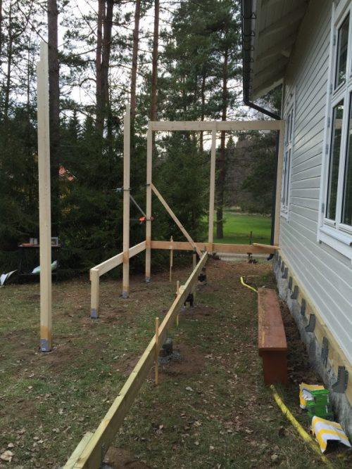 Een terras bouwen in de tuin