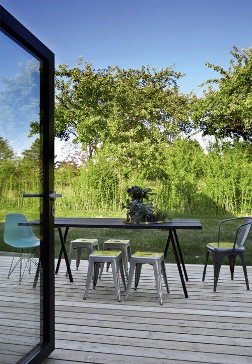 De terrastuin van Deense televisiepresentator Emil Thorup