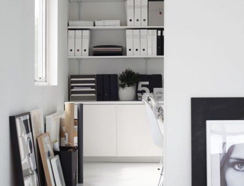 Thuiskantoor van Noorse interieurstylist Elisabeth Heier