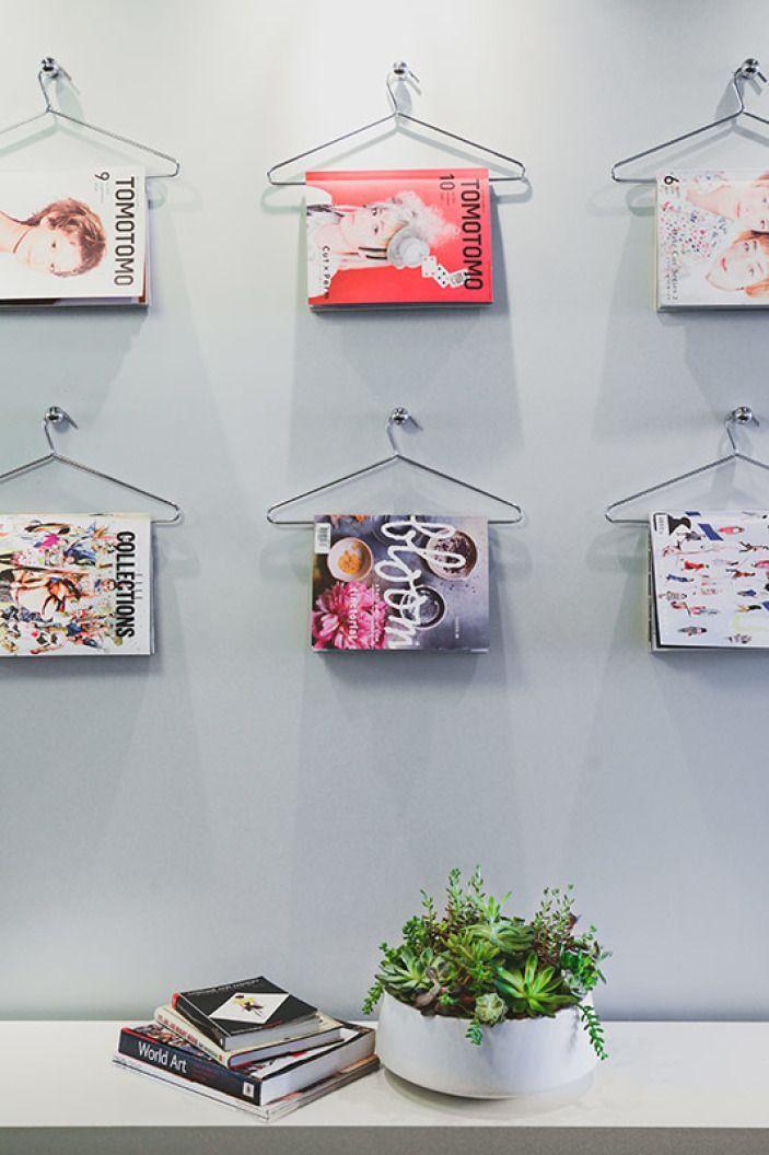 tijdschriften opbergen inspiratie kledinghangers