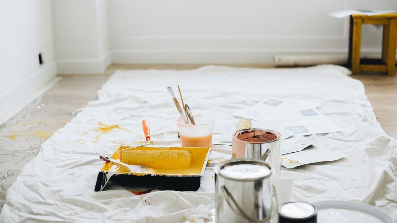 Tip vloer afdekken met canvas doek