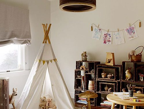 Tipi tent in de kinderkamer