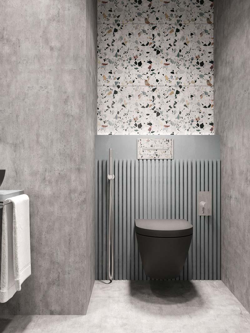 toilet inspiratie terrazzo tegels