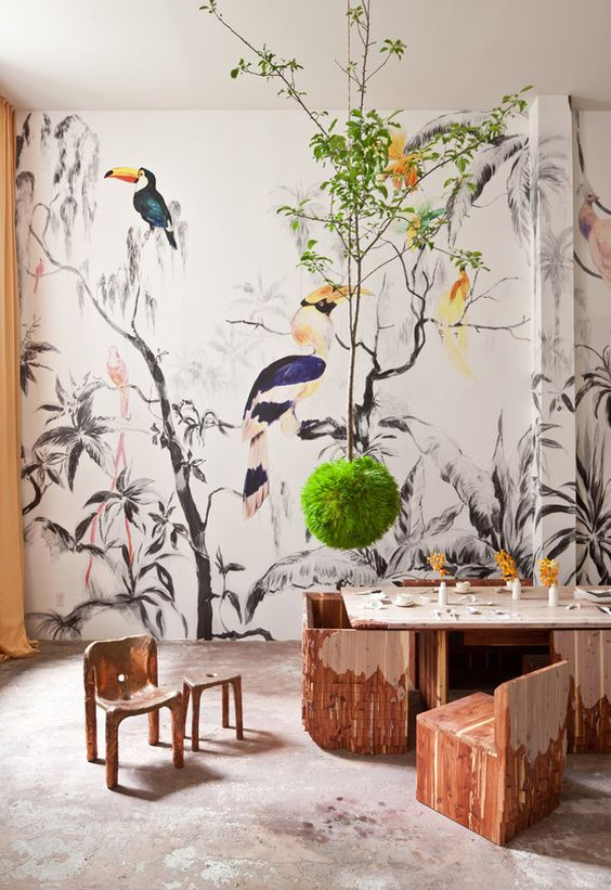 tropische-vogels-jungle-behang