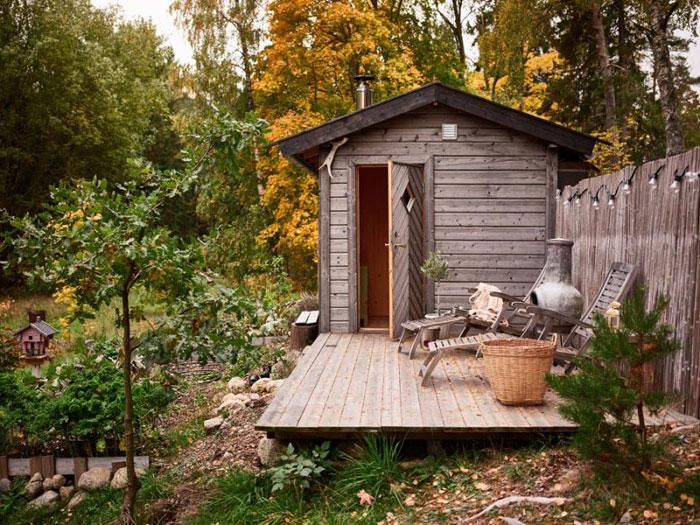 Tuin ideeën sauna