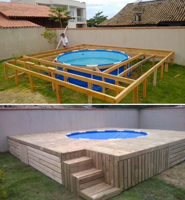 tuin opzetzwembad ombouw