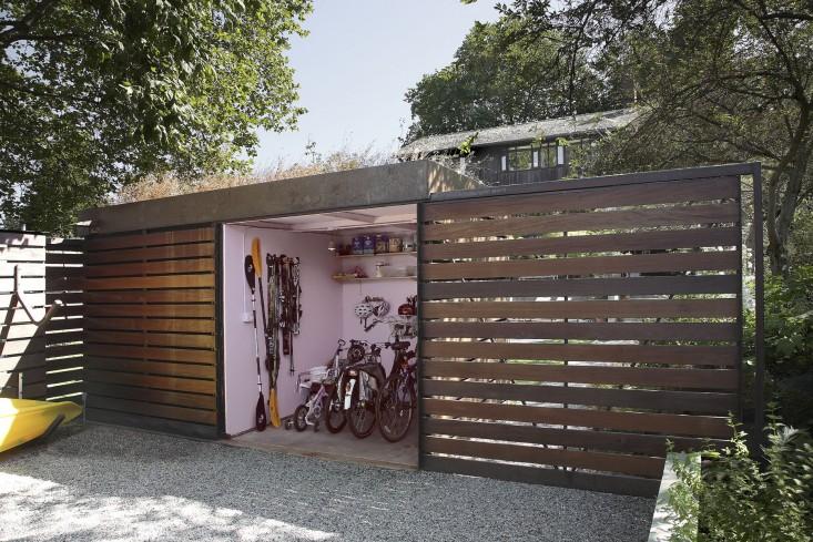 tuinhuis idee fietsenstalling
