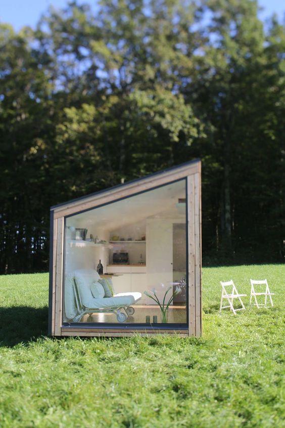 tuinhuis idee logeerkamer