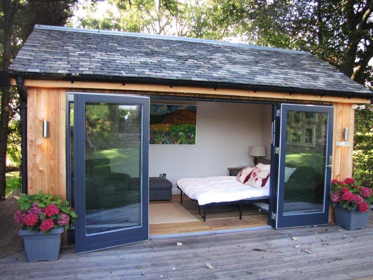 tuinhuis idee slaapkamer