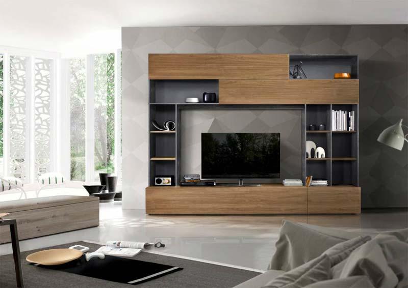 tv meubel met opbergruimte Benvenuto Design Pratiko TV wandmeubel
