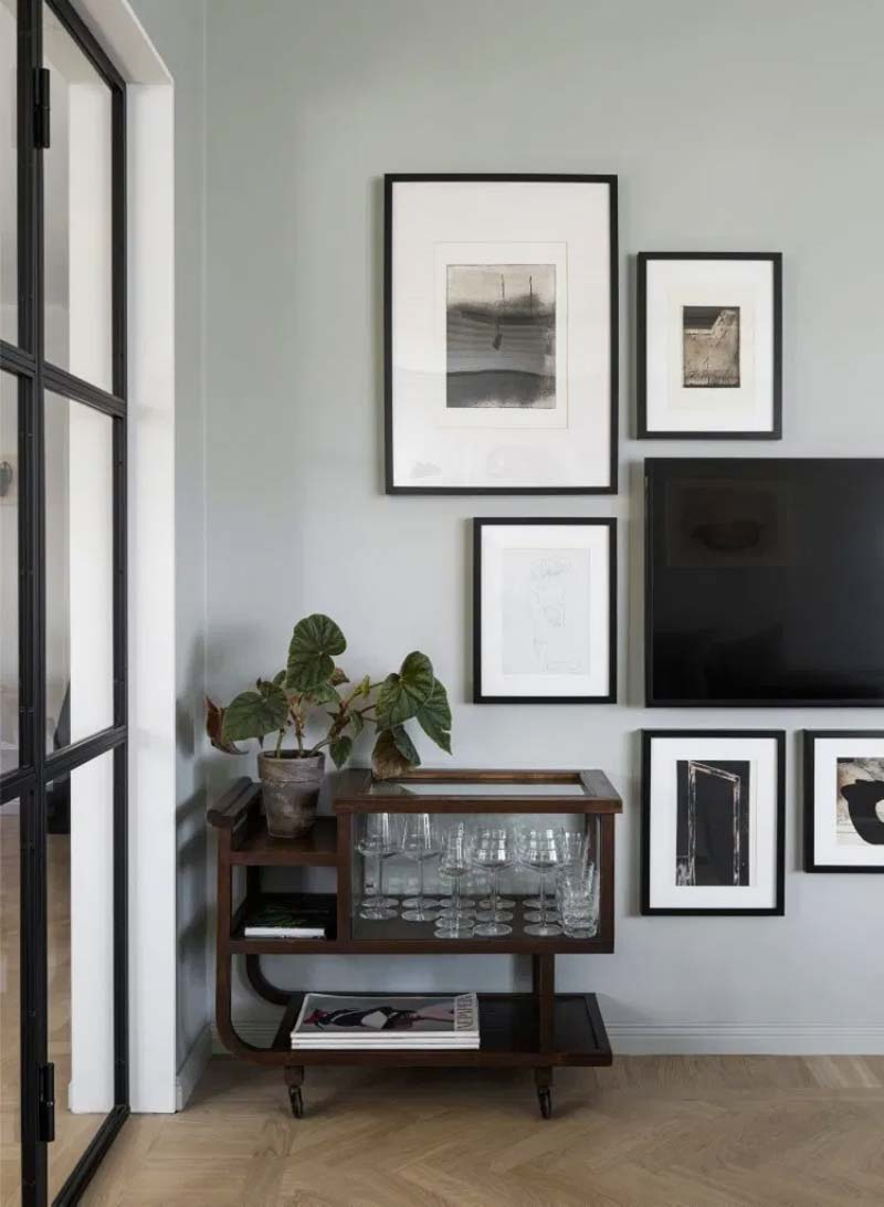 tv ophangen muur collage