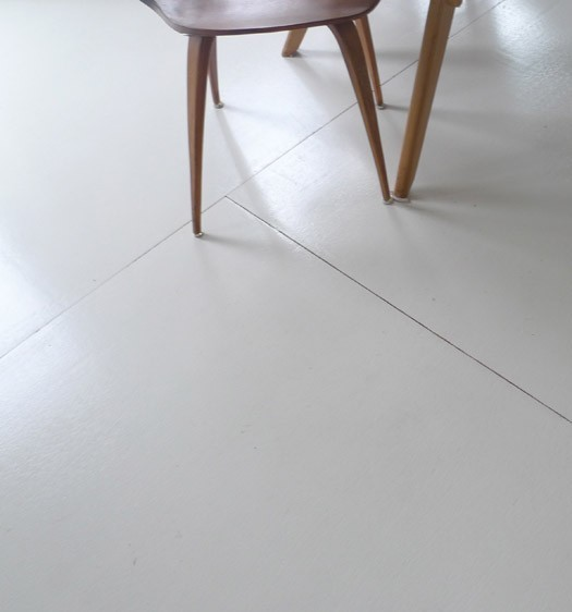 Underlayment vloer verven