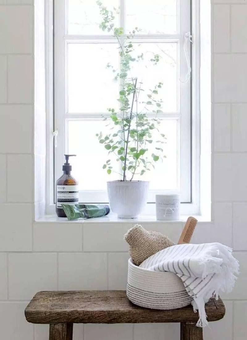 vensterbank decoratie badkamer styling