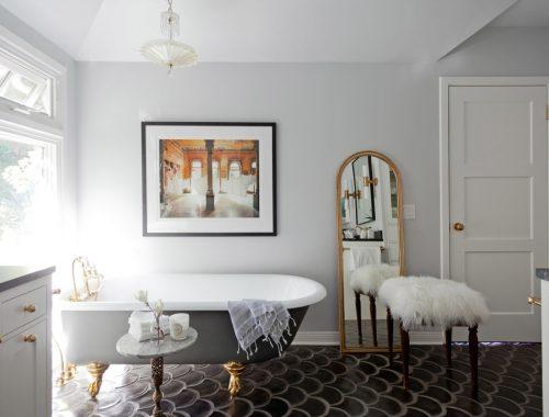 Verbouwing van een klassieke luxe badkamer