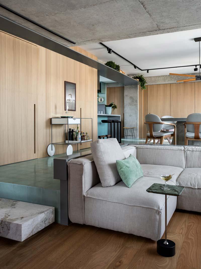 verzonken woonkamer loungebank