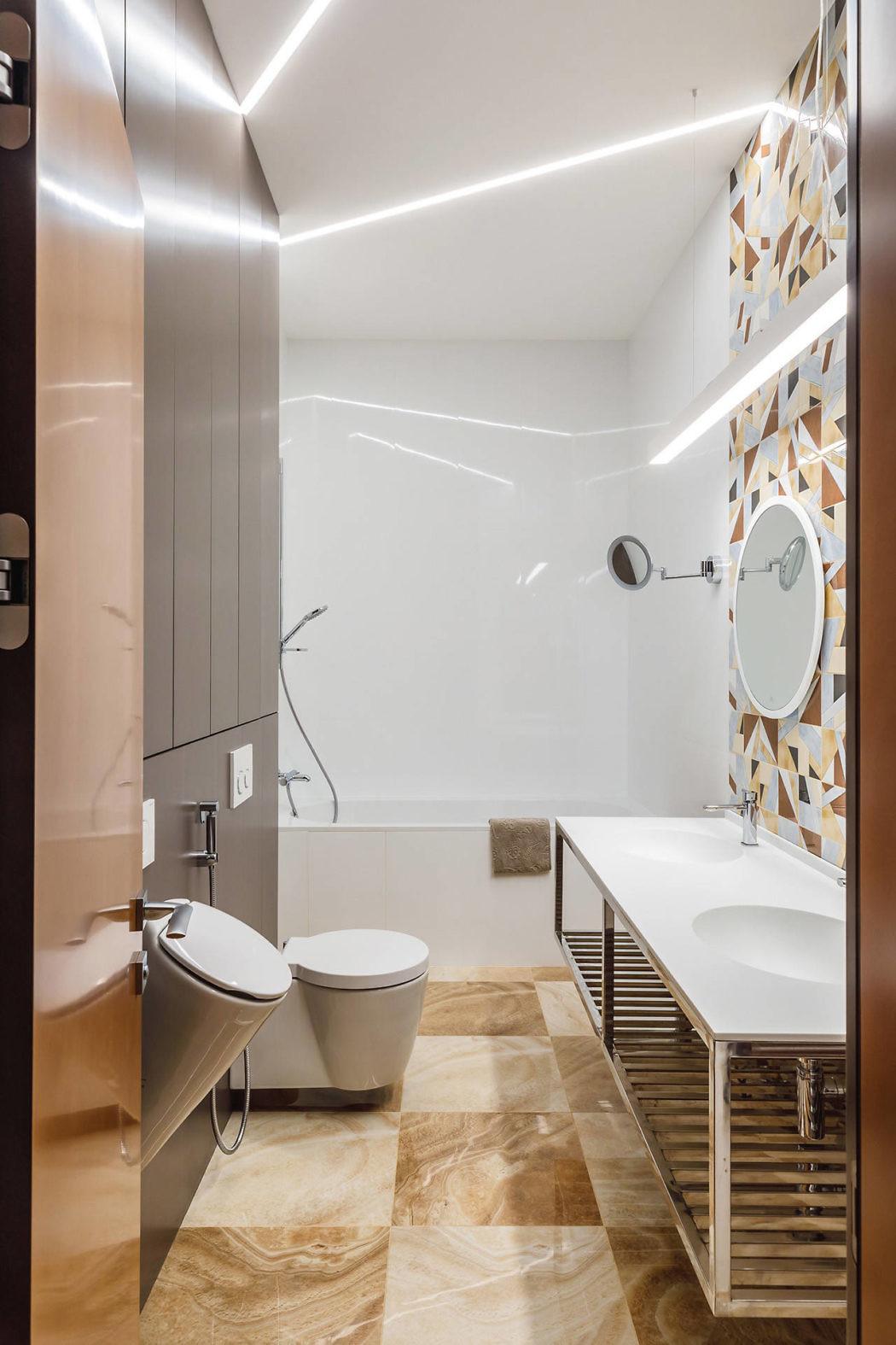 vintage badkamers voorbeelden granito tegels