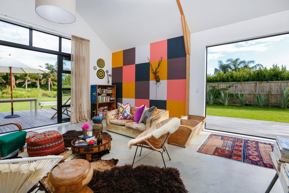 Stoere Bohemien Bungalow : Vintage bohemien open woonkamer huis inrichten.com