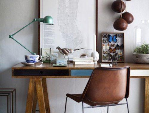 vintage-bruine-leren-stoel-bureaustoel