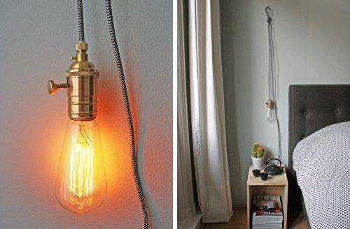Vintage lamp slaapkamer