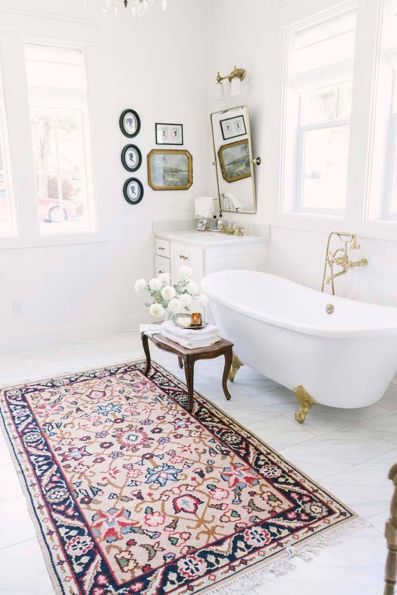 vintage vloerkleed badmat badkamer