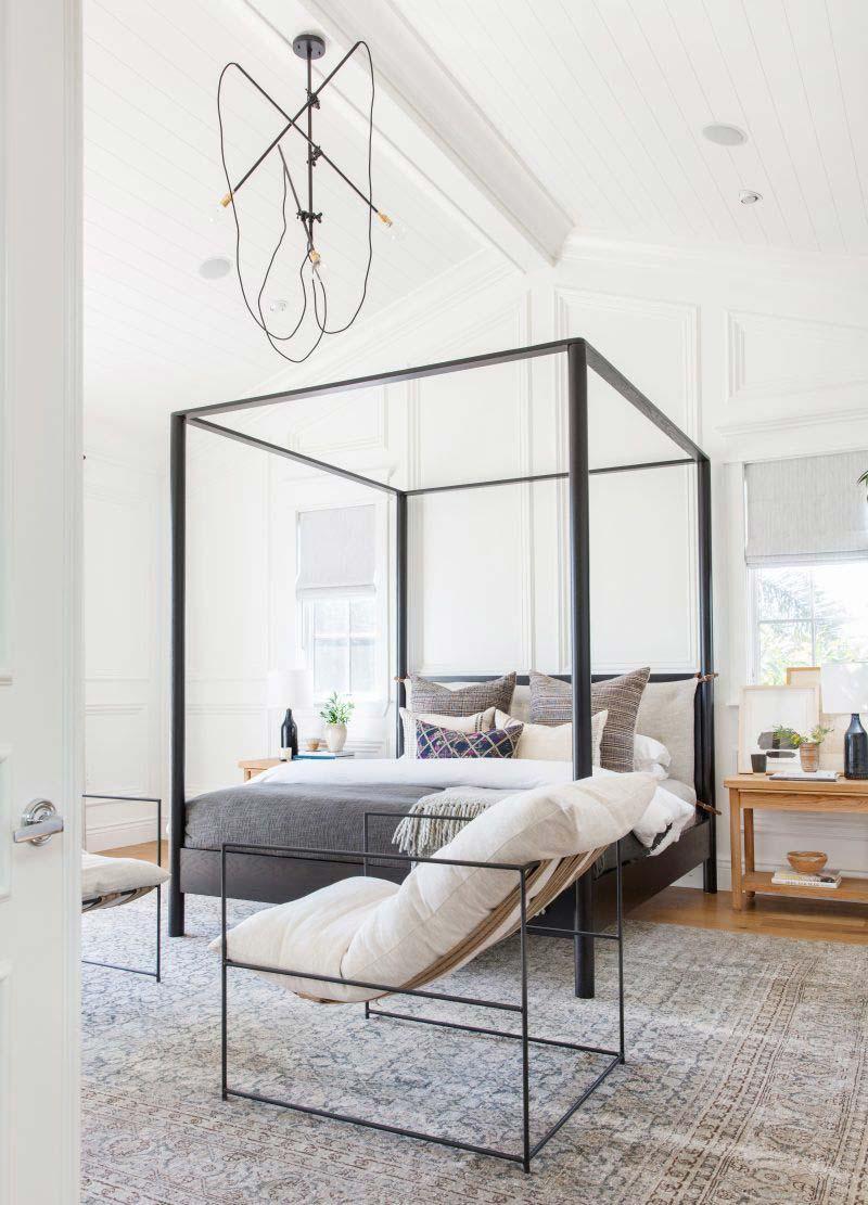 vintage vloerkleed in slaapkamer