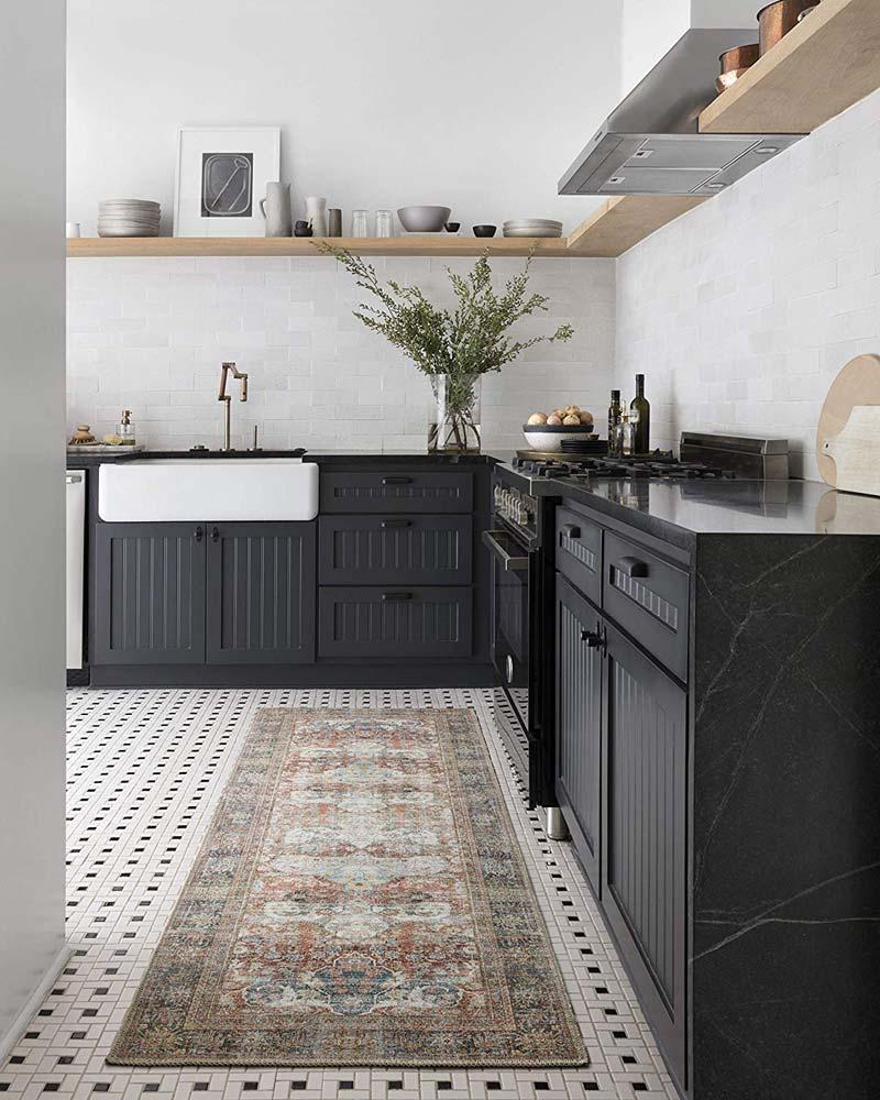 vintage vloerkleed keuken