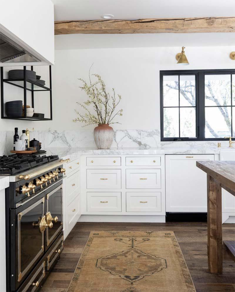 vintage vloerkleed loper keuken