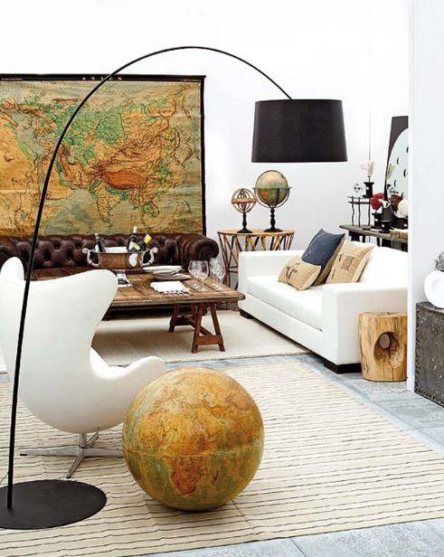 vintage-wereldkaart-muur
