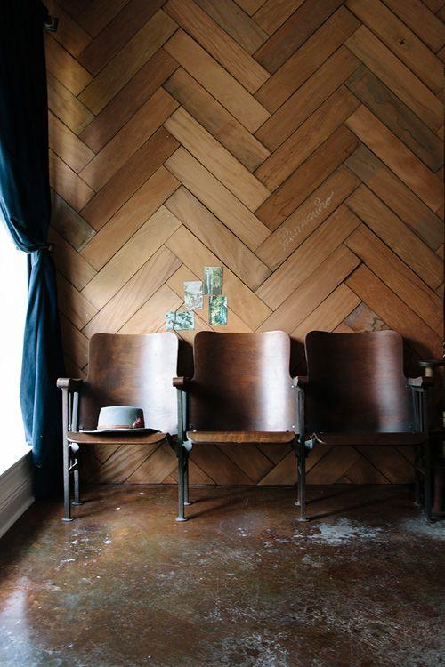 Visgraat houten wandbekleding