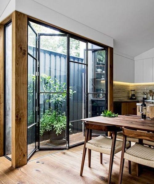 Vouwdeur inspiratie tuin