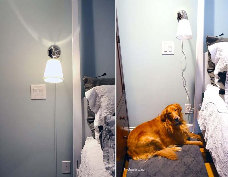 wandlamp kabel verbergen