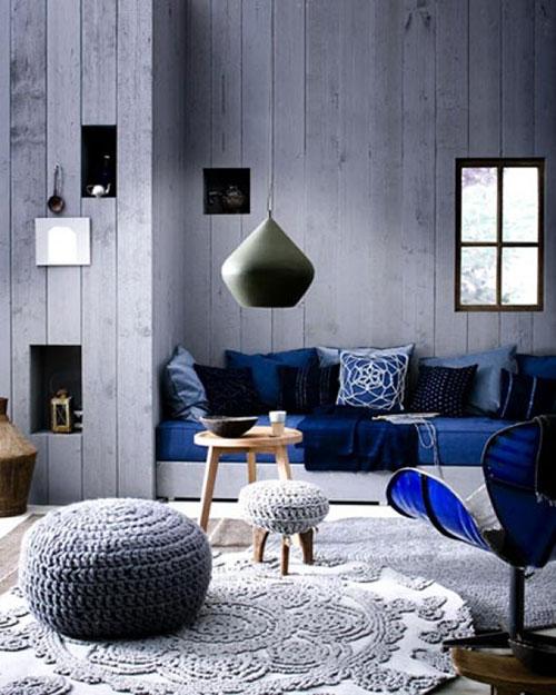 Warme landelijke woonkamer