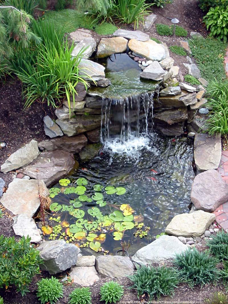 Waterval in de tuin