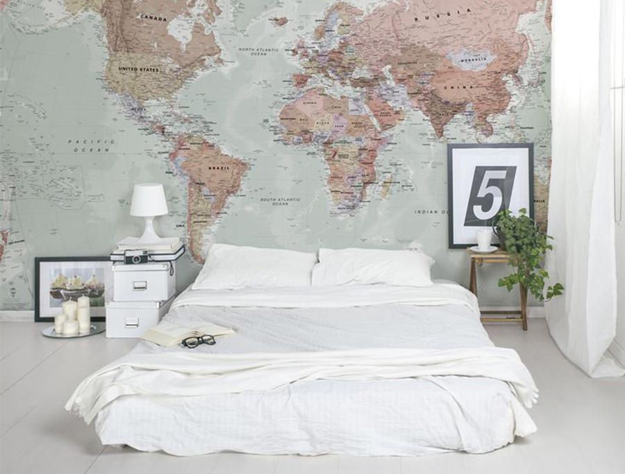 wereldkaart-aan-de-muur-slaapkamer