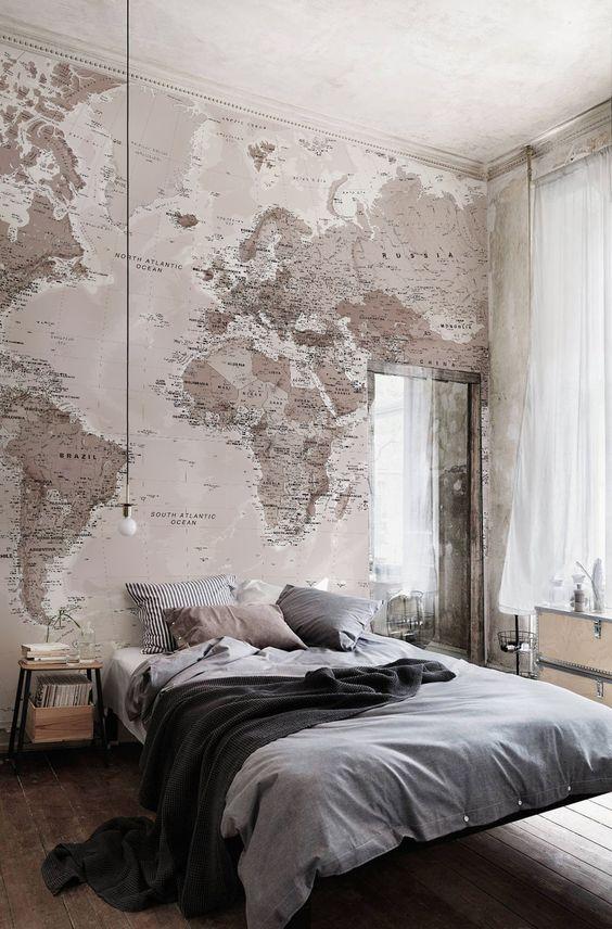 wereldkaart-behang