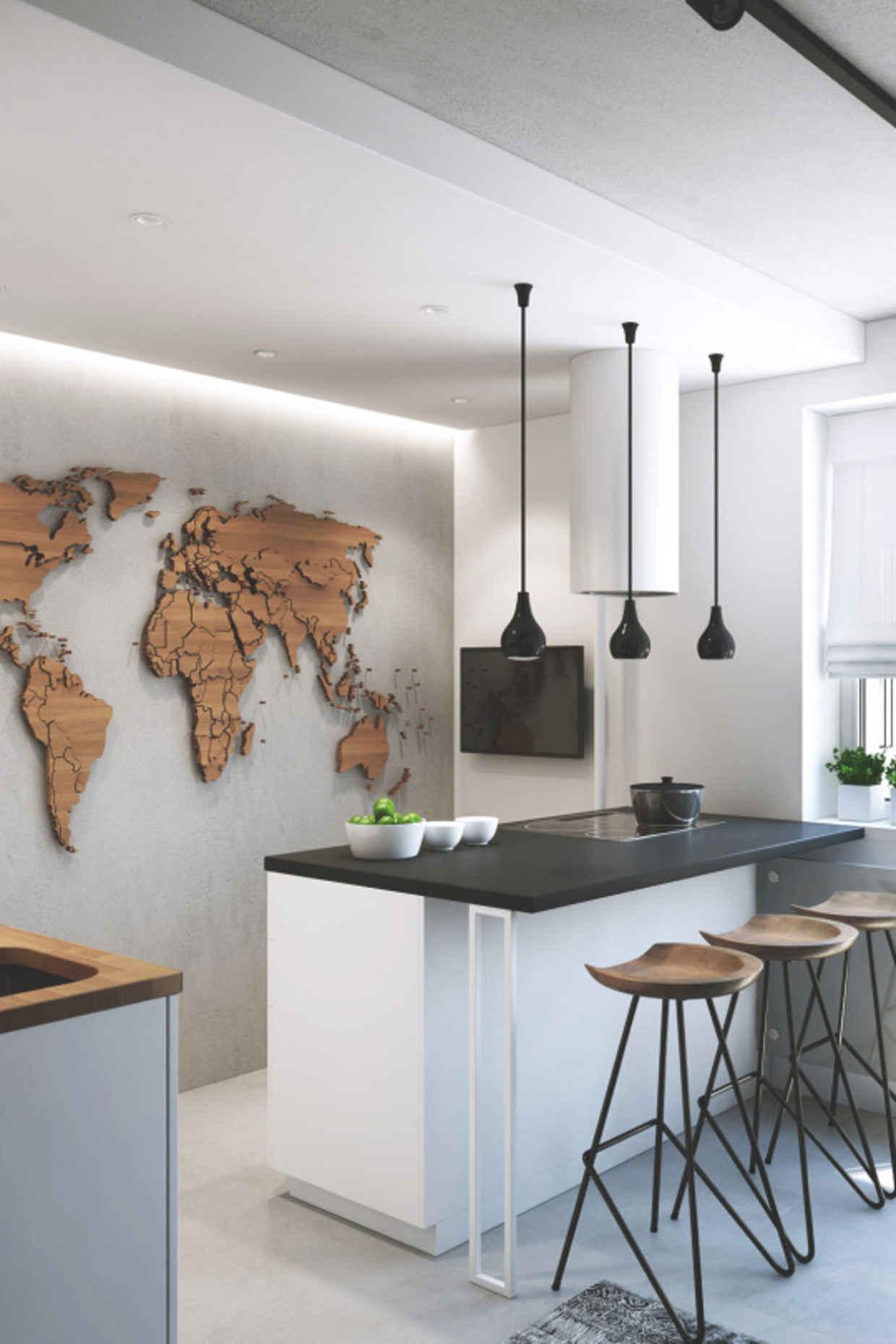 Nieuw Wereldkaart aan de muur! | Huis-inrichten.com VV-91
