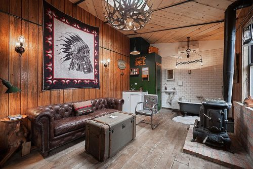 Western slaapkamer van B&B Urban Cowboy