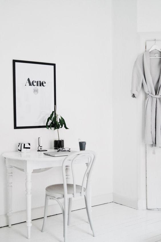 Witte cafe stoel als bureaustoel