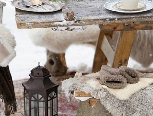 Winterse buitenruimtes