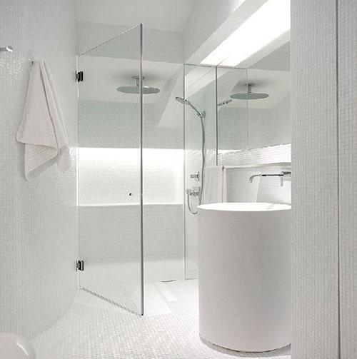 Witte badkamer vloer